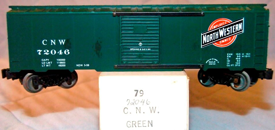 Frank's Roundhouse Chicago and North Western green boxcar