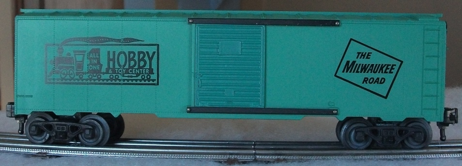 Kris All In One Hobby & Toy Center mint green boxcar