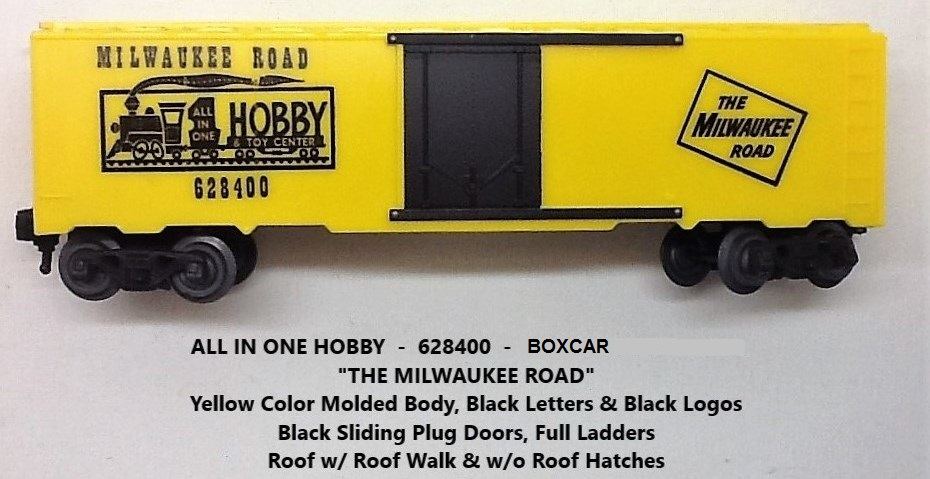 Kris All In One Hobby & Toy Center 628400 yellow boxcar