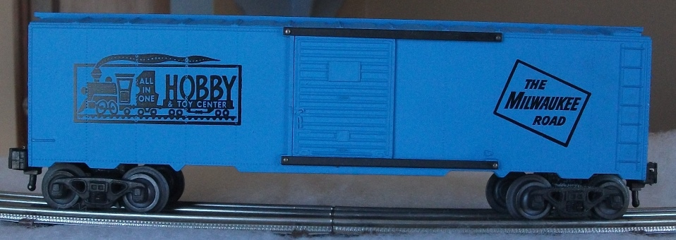 Kris All In One Hobby & Toy Center blue boxcar