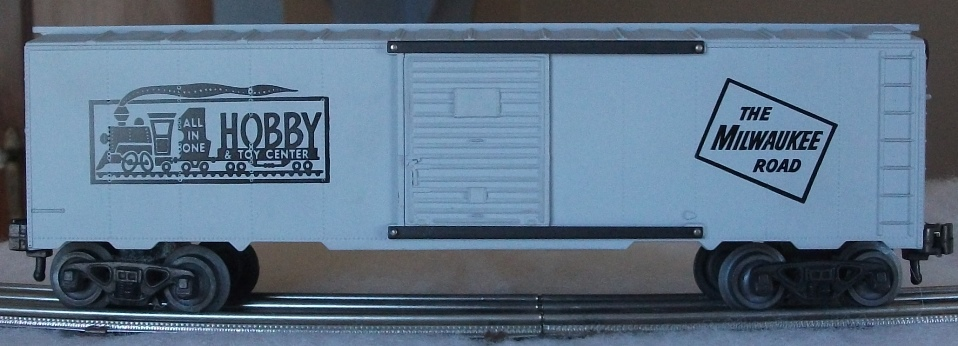 Kris All In One Hobby & Toy Center light gray boxcar
