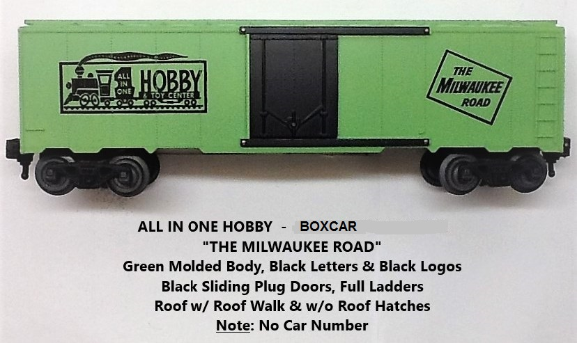 Kris All In One Hobby & Toy Center green boxcar