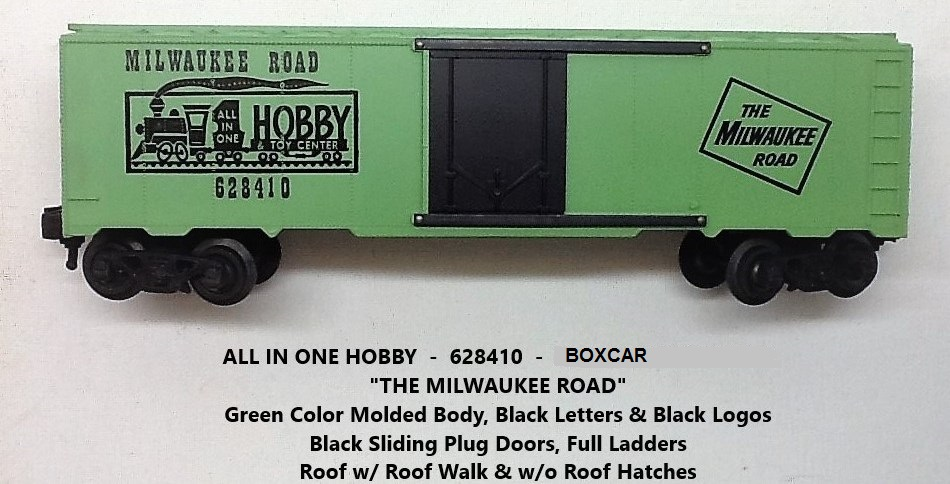 Kris All In One Hobby & Toy Center 628410 green boxcar