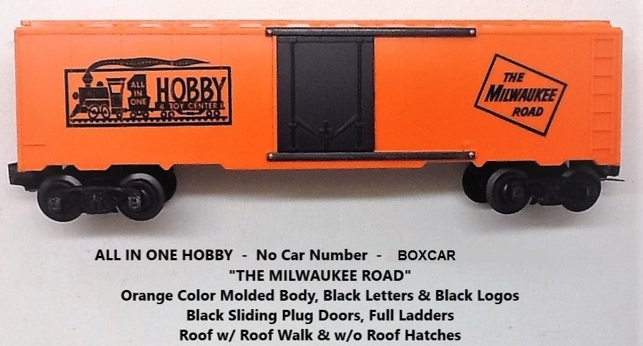 Kris All In One Hobby & Toy Center orange boxcar