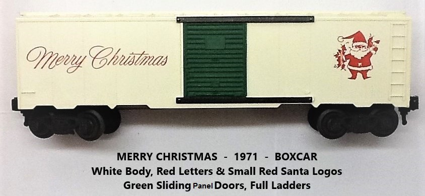 Kris white Merry Christmas boxcar with red lettering
