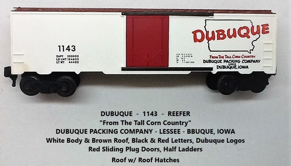 Kris Dubuque Packing Company 1143 red door refrigerator car