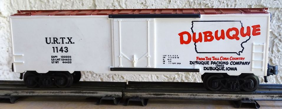 Kris Dubuque Packing Company 1143 white door refrigerator car