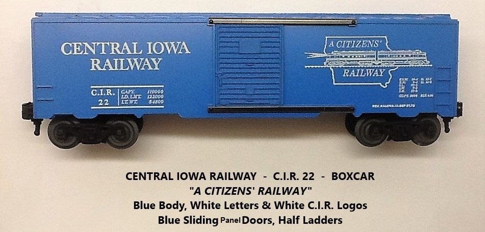 Kris Central Iowa Railway blue boxcar