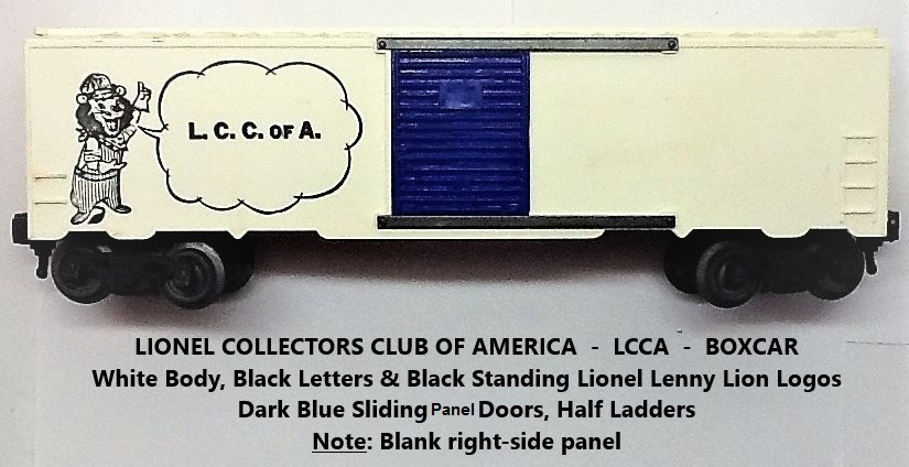 Kris LCCA white boxcar with speaking Lenny the Lion and without Corning meet info