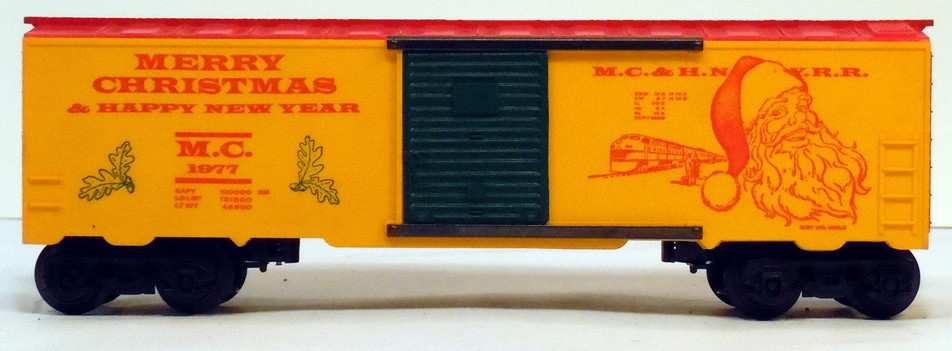 Kris 1977 yellow and red holiday boxcar