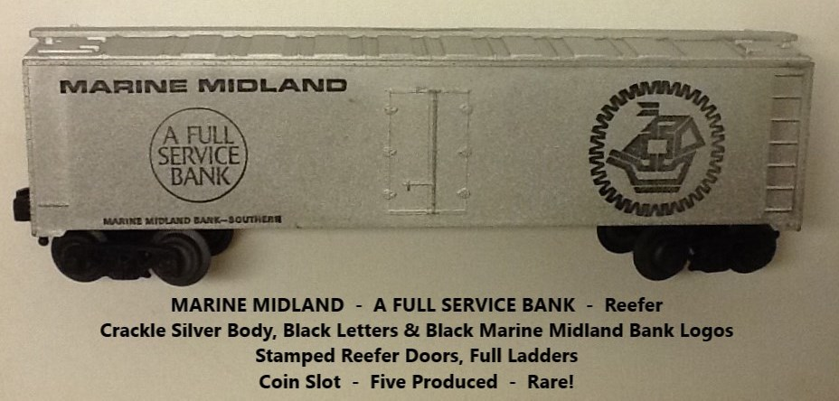 Kris Marine Midland crackle silver bank car