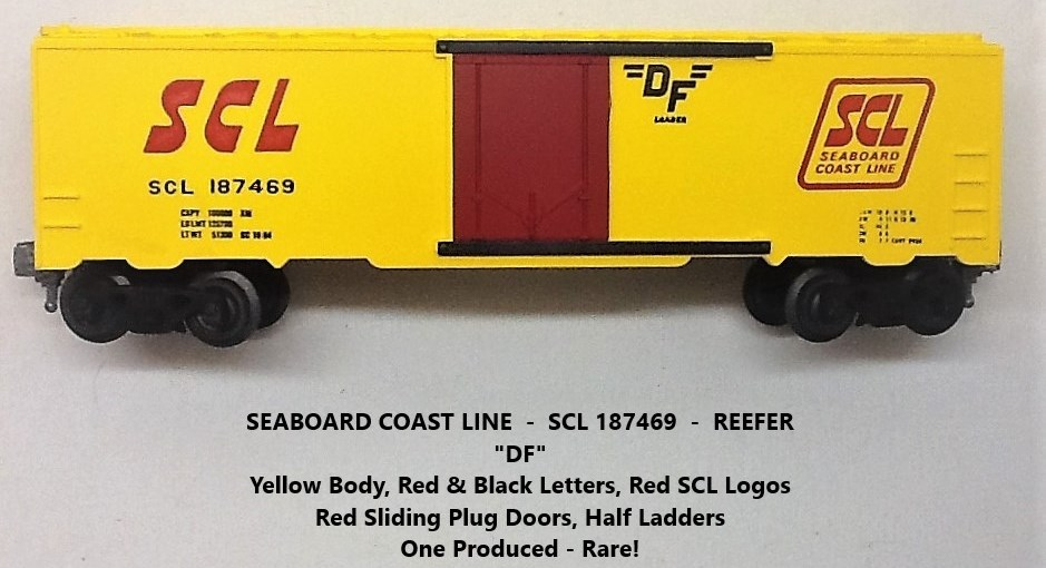 Kris Seaboard Coast Line 187469 yellow refrigerator car