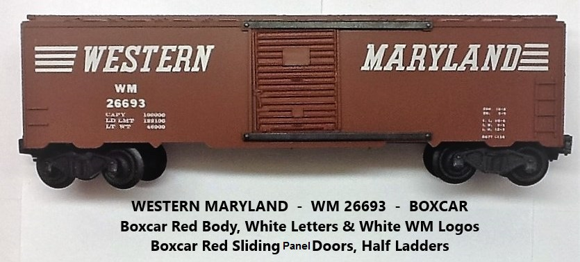 Kris Western Maryland 26693 boxcar red boxcar with panel doors