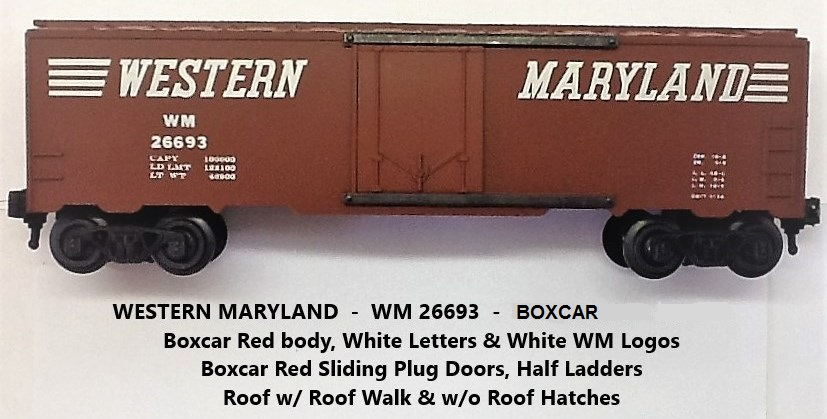 Kris Western Maryland 26693 boxcar red boxcar with plug doors