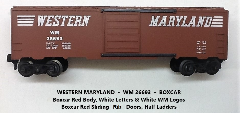 Kris Western Maryland 26693 boxcar red boxcar with rib doors