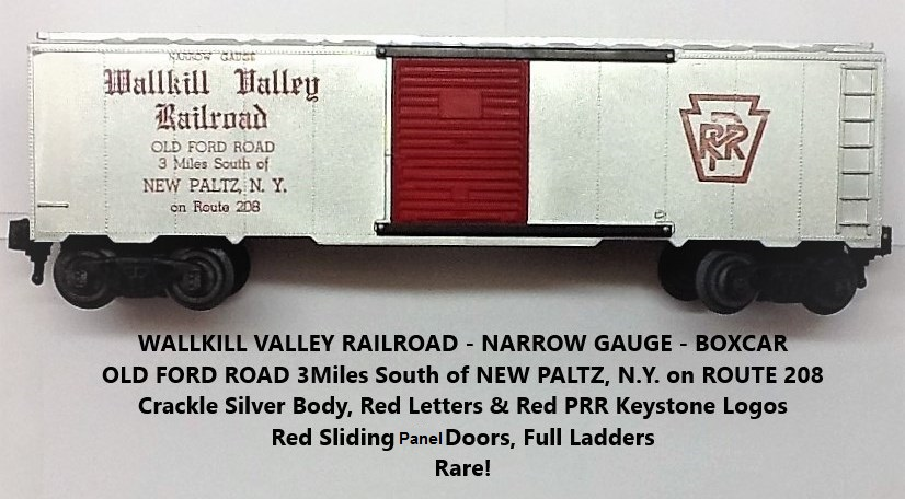 Kris Wallkill Valley Railroad crackle silver boxcar