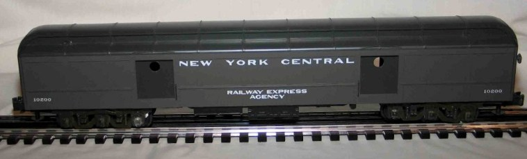 New York Central gray baggage car