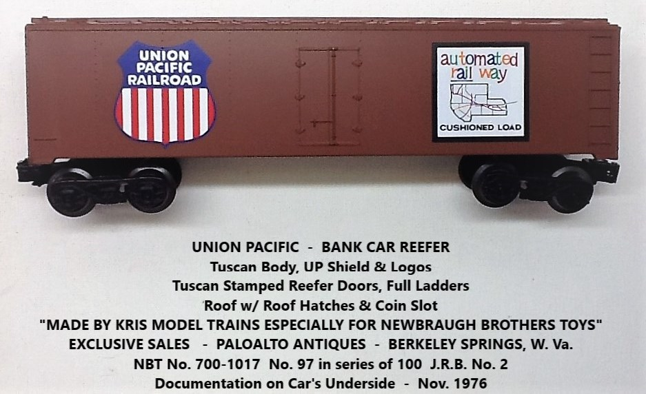 Kris Union Pacific tuscan bank car