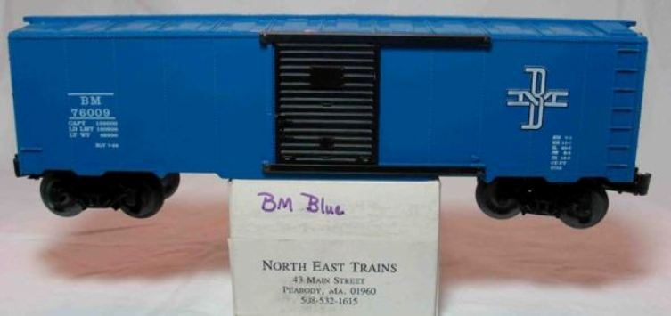 North East Trains Boston and Maine boxcar